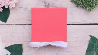 pink box with bow