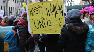 woman sign at protest